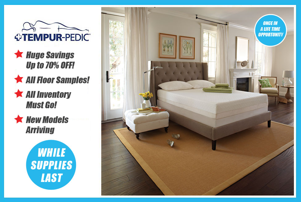once in a life time opportunity to own a tempurpedic at drastically reduced prices - Tempurpedic Prices